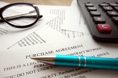 Payment terms in a contract