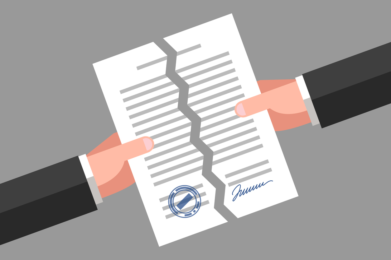 Termination Agreements and contracts